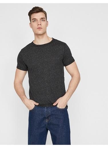 Koton Koton Siyah Kısa Kollu Basic T-Shirt Siyah